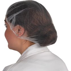 SitesafeWhite Disposable Hair Nets Pack of 100